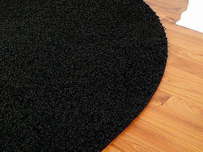teppich hochflor shaggy premio schwarz rund in 7 gr en. Black Bedroom Furniture Sets. Home Design Ideas