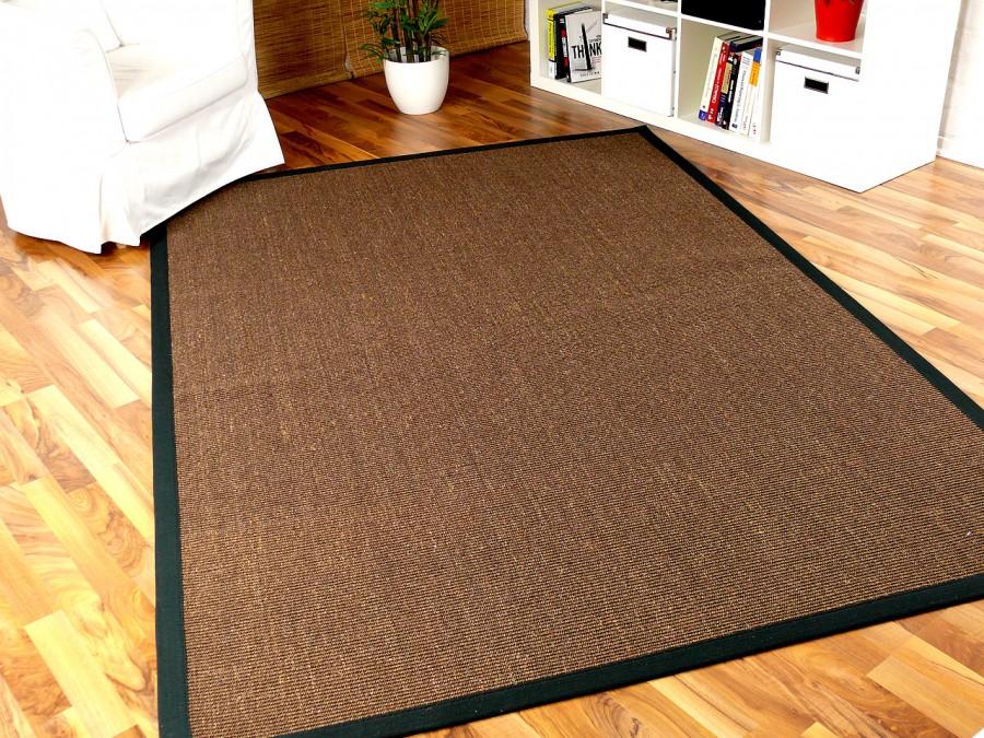 sisal astra natur teppich dunkelbraun bord re schwarz. Black Bedroom Furniture Sets. Home Design Ideas