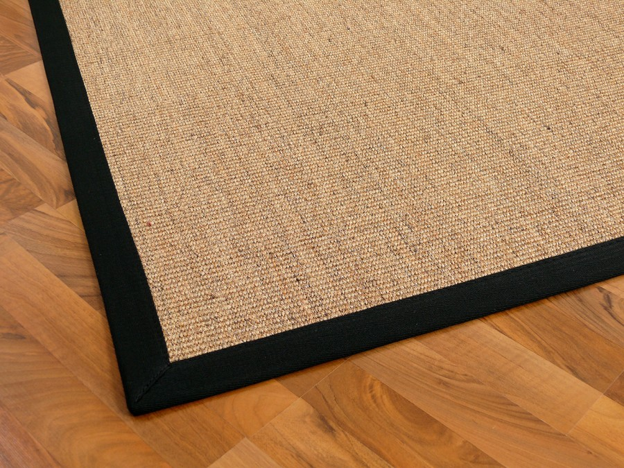 sisal astra natur teppich nuss bord re schwarz teppiche sisal und naturteppiche sisal teppiche. Black Bedroom Furniture Sets. Home Design Ideas