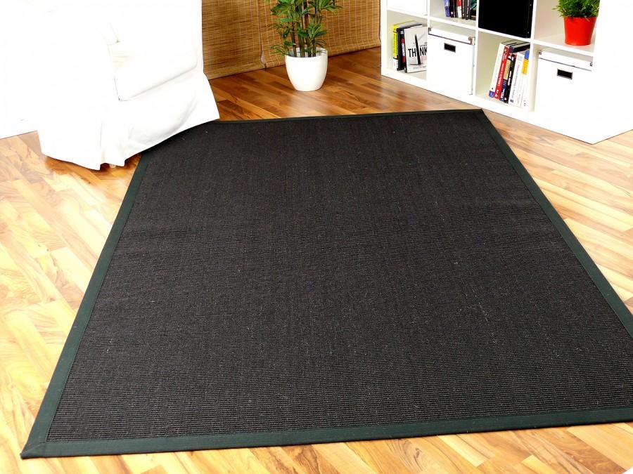 sisal astra natur teppich schwarz bord re schwarz in 12 gr en teppiche sisal und naturteppiche. Black Bedroom Furniture Sets. Home Design Ideas