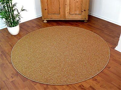 natur teppich wolle berber karamell rund in 7 gr en teppiche sisal und naturteppiche berber. Black Bedroom Furniture Sets. Home Design Ideas