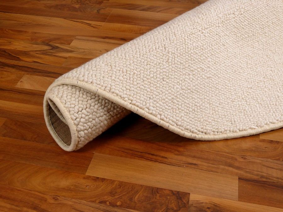 berber natur teppich wolle malta wollweiss rund in 7. Black Bedroom Furniture Sets. Home Design Ideas