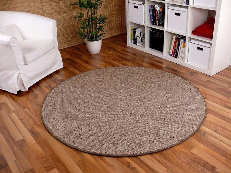 berber natur teppich wolle malta braun rund in 7 gr en teppiche sisal und naturteppiche berber. Black Bedroom Furniture Sets. Home Design Ideas