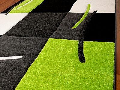 teppich paradiso schwarz gr n karo teppiche designerteppiche. Black Bedroom Furniture Sets. Home Design Ideas