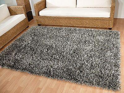 teppich hochflor shaggy sch ner wohnen feeling grau sonderangebot teppiche. Black Bedroom Furniture Sets. Home Design Ideas
