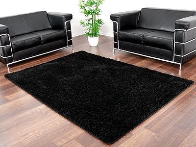 hochflor shaggy teppich luxus feeling schwarz abverkauf teppiche. Black Bedroom Furniture Sets. Home Design Ideas