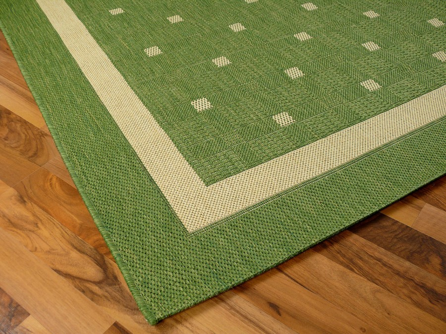teppich flachgewebe ruggy gr n bord re in 6 gr en teppiche sisal und naturteppiche designer. Black Bedroom Furniture Sets. Home Design Ideas