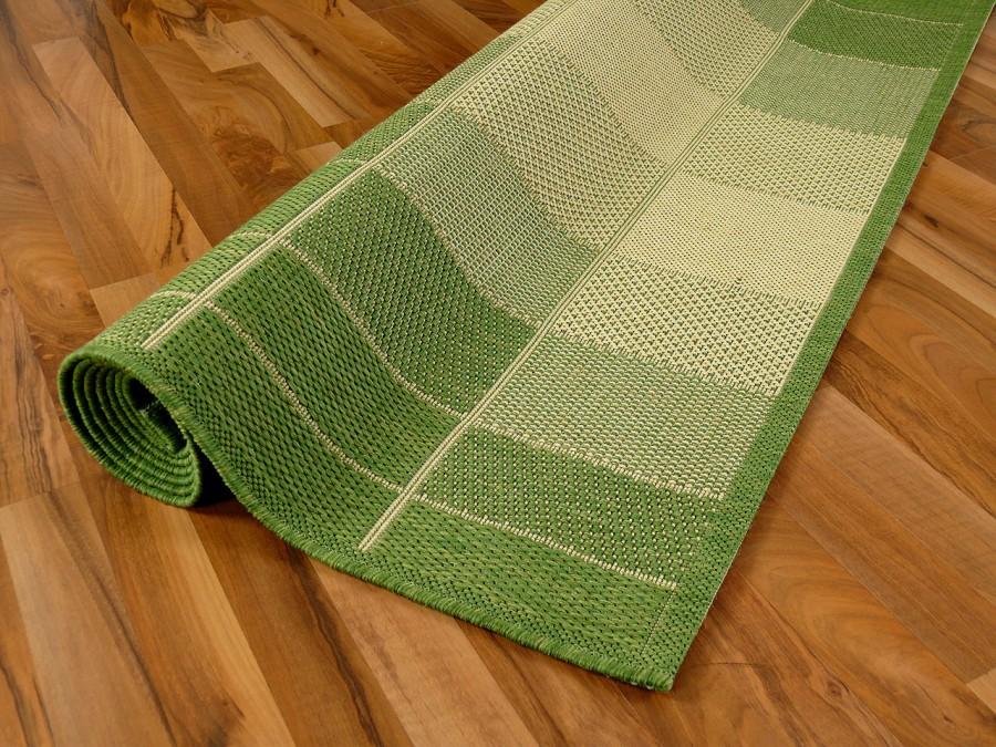 teppich flachgewebe ruggy gr n beige abverkauf teppiche sisal und naturteppiche designer. Black Bedroom Furniture Sets. Home Design Ideas