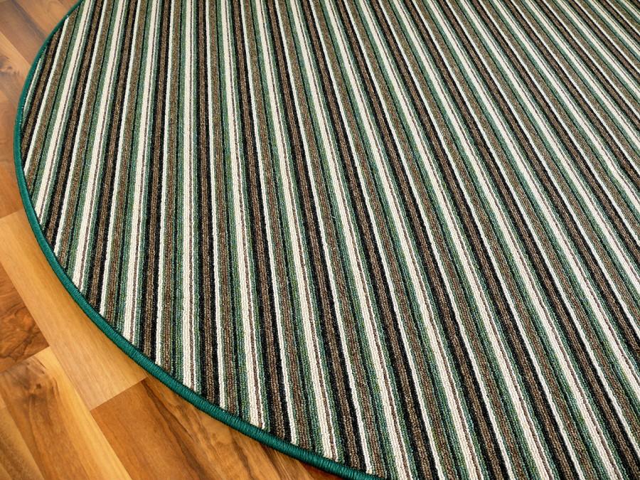 streifenberber teppich gr n stripes rund in 7 gr en. Black Bedroom Furniture Sets. Home Design Ideas