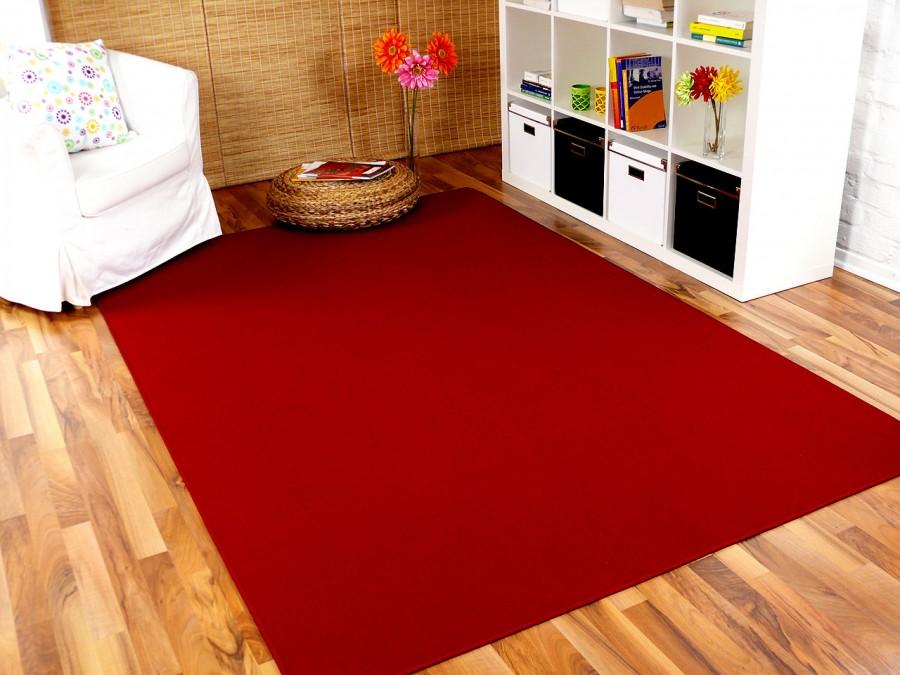 Basic Velours Teppich Carla Weinrot in 17 Größen Teppiche