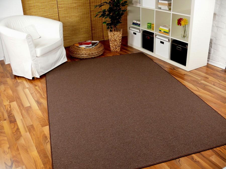 feinschlingen velour teppich strong dunkelbraun in 24 gr en. Black Bedroom Furniture Sets. Home Design Ideas
