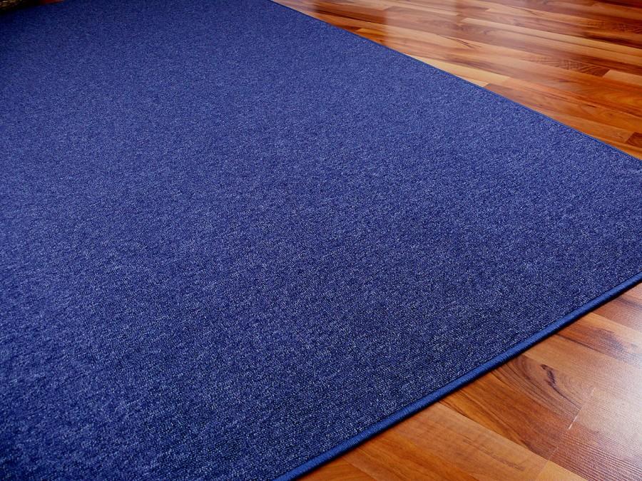 feinschlingen velour teppich strong dunkelblau in 24. Black Bedroom Furniture Sets. Home Design Ideas