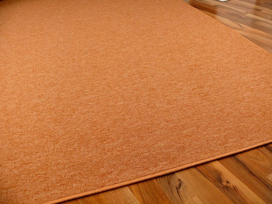 feinschlingen velour teppich strong orange in 24 gr en. Black Bedroom Furniture Sets. Home Design Ideas
