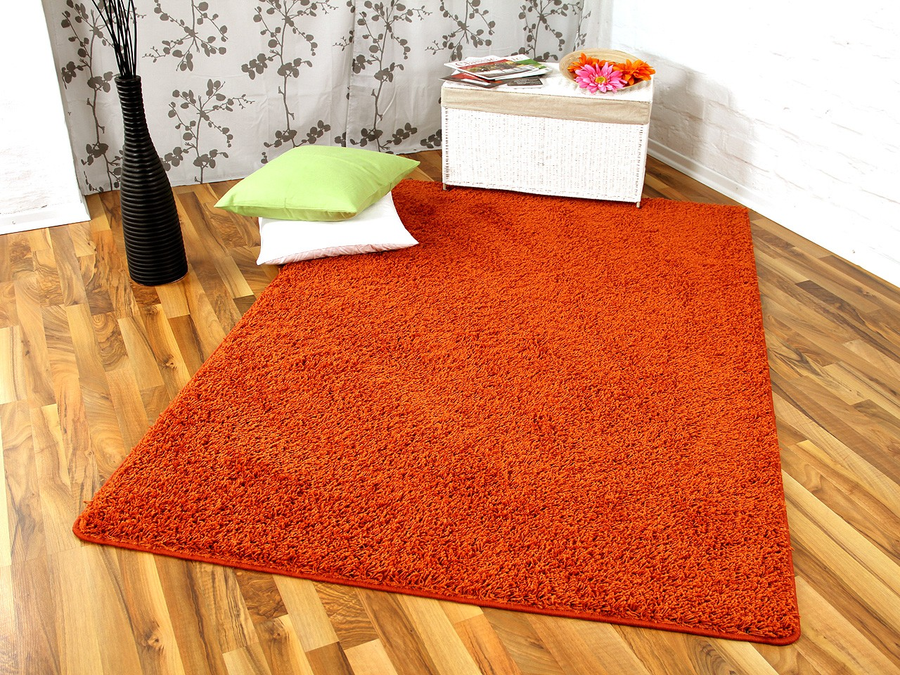 hochflor langflor teppich shaggy nova orange sonderaktion sonderposten hochflor langflor. Black Bedroom Furniture Sets. Home Design Ideas