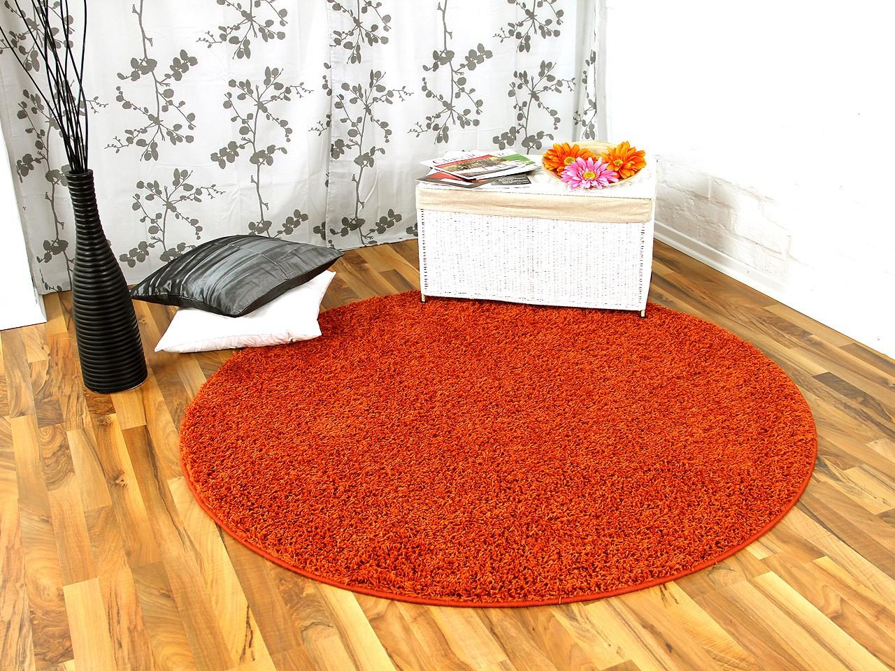 hochflor langflor teppich shaggy nova orange rund sonderaktion sonderposten hochflor langflor. Black Bedroom Furniture Sets. Home Design Ideas