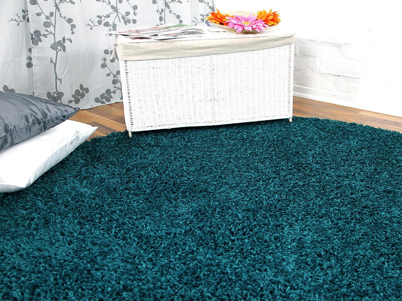 hochflor langflor teppich shaggy nova petrol rund sonderaktion sonderposten hochflor langflor. Black Bedroom Furniture Sets. Home Design Ideas
