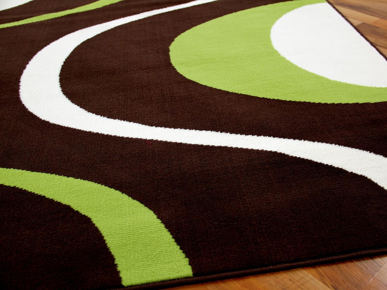 Teppich braun grün