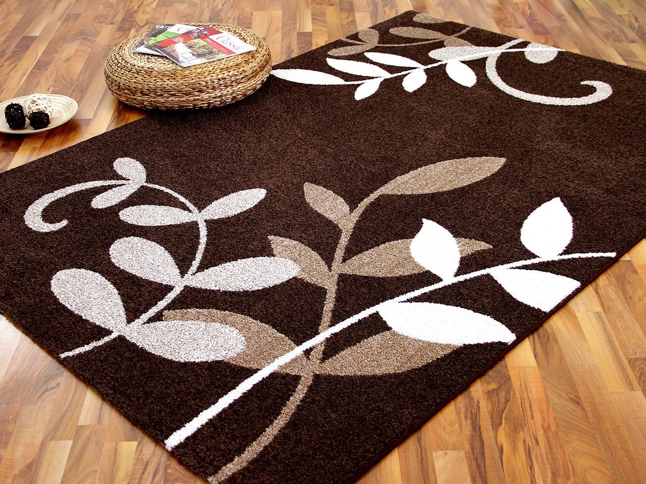 designer teppich softstar braun blumen teppiche designerteppiche softstar teppiche. Black Bedroom Furniture Sets. Home Design Ideas
