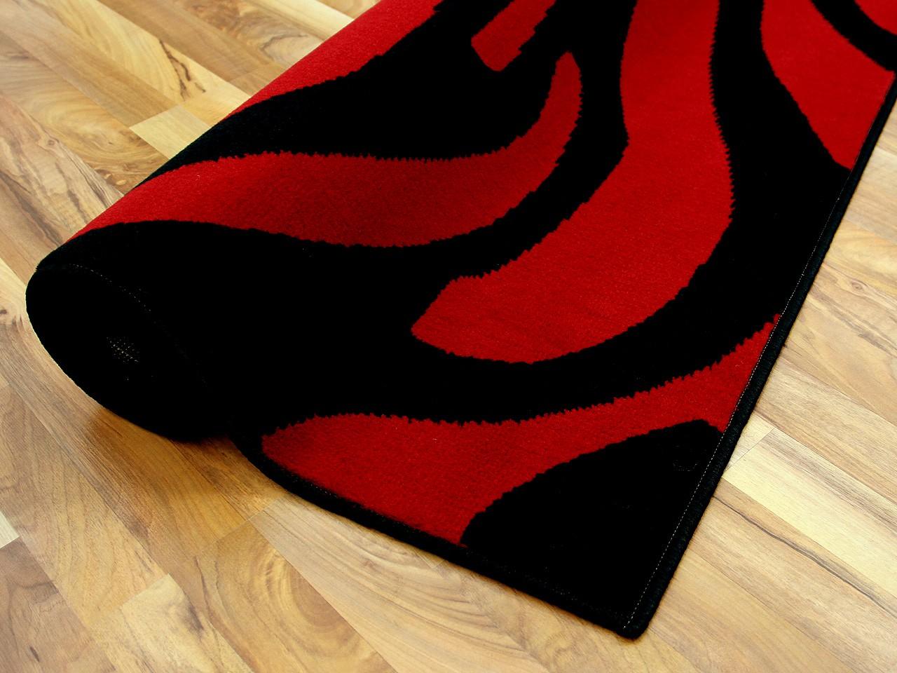 teppich trendline schwarz rot rose 4 gr en teppiche. Black Bedroom Furniture Sets. Home Design Ideas