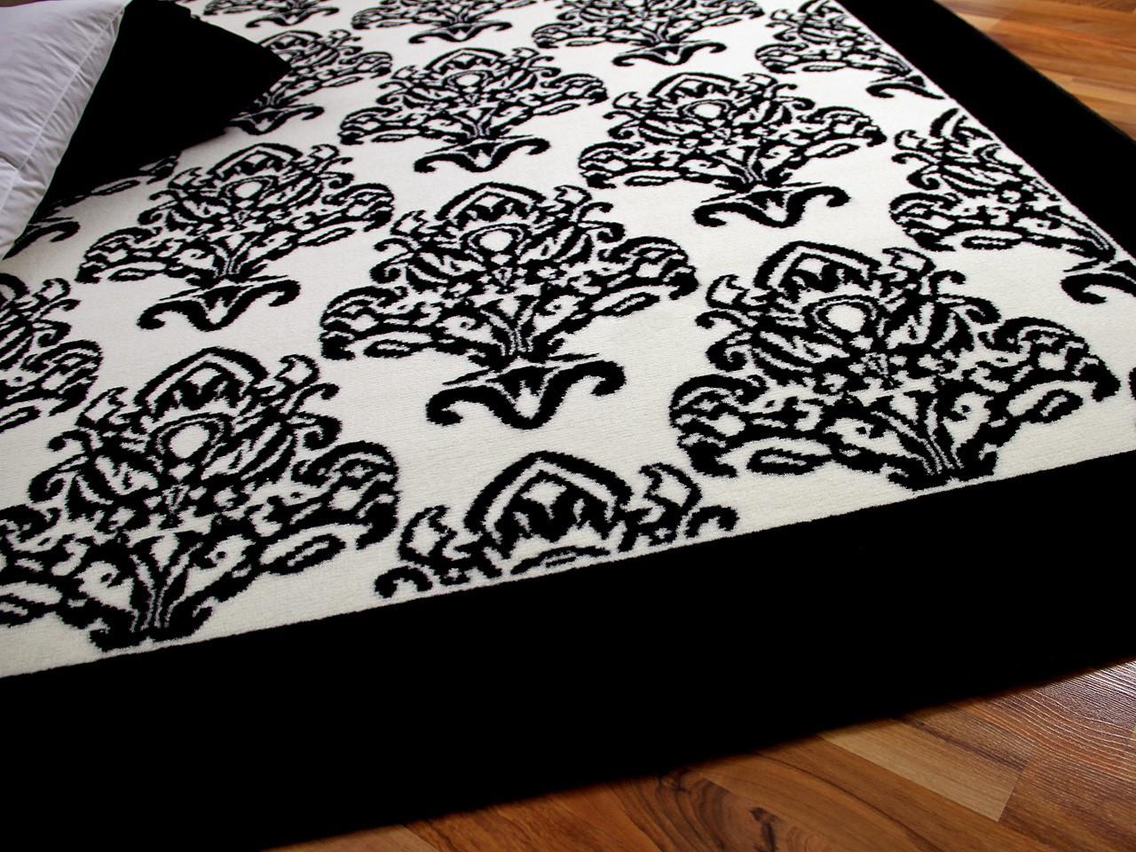 teppich schwarz weiss rauten m bel und heimat design inspiration. Black Bedroom Furniture Sets. Home Design Ideas