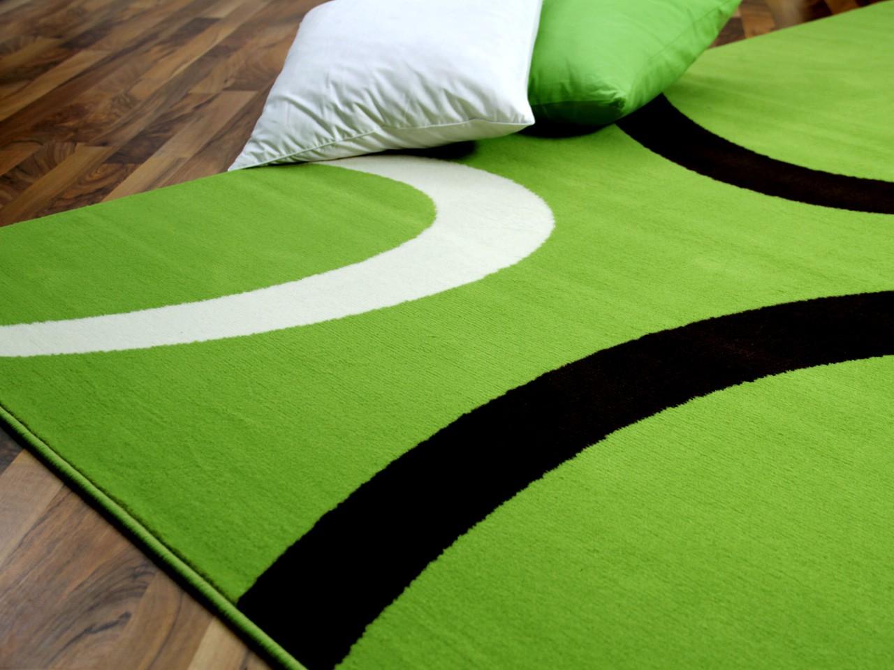 Teppich trendline grün kreise in 4 größen teppiche ...