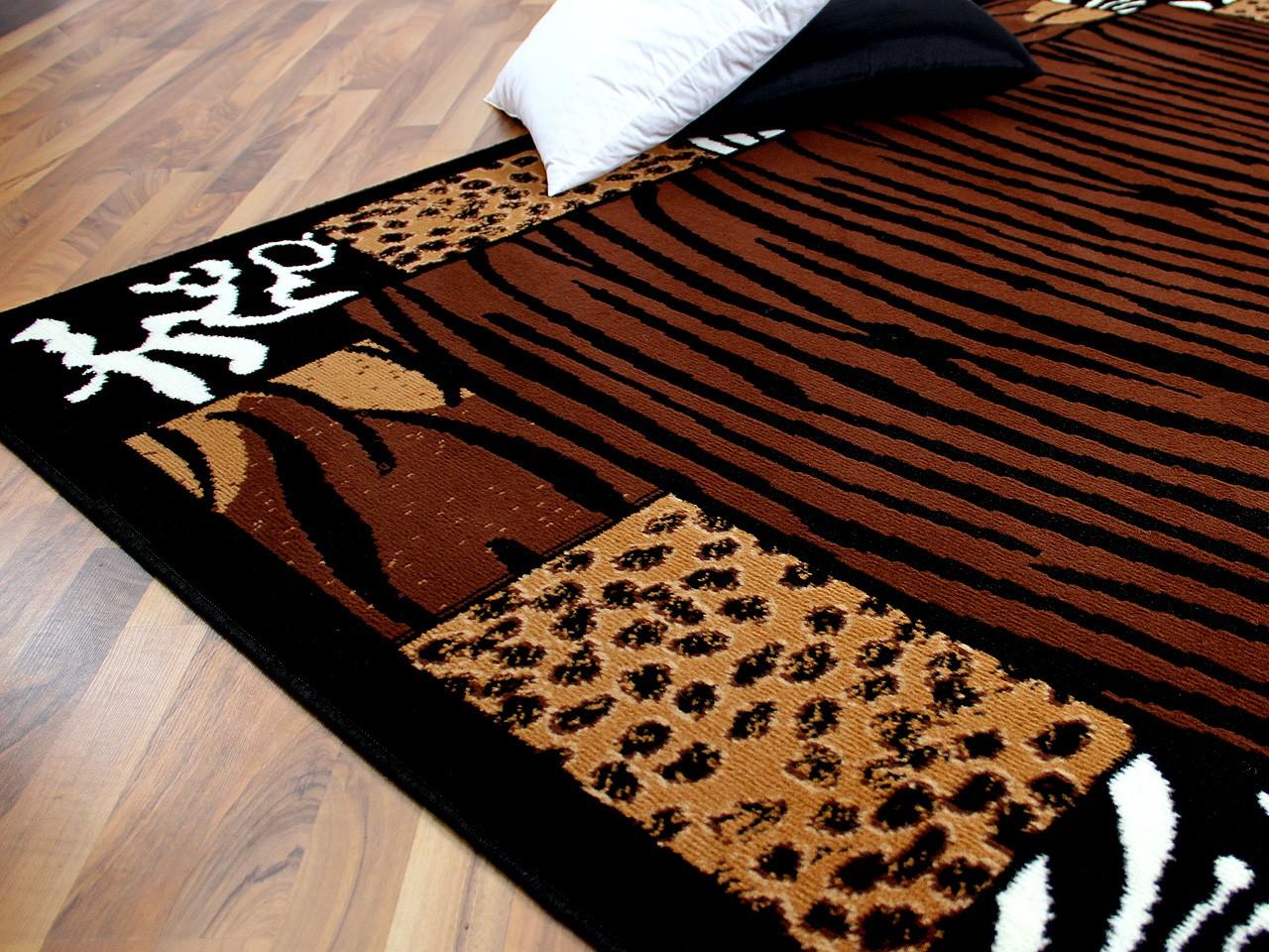 Teppich Trendline Afrika Bordüre Braun Schwarz in 4 Größen