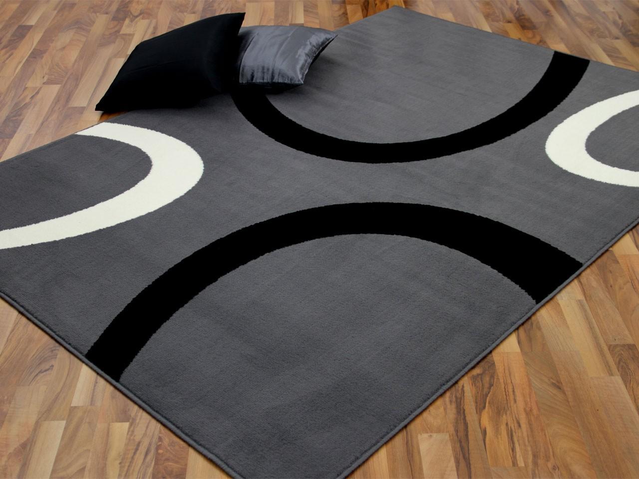 teppich trendline grau kreise in 4 gr en teppiche. Black Bedroom Furniture Sets. Home Design Ideas
