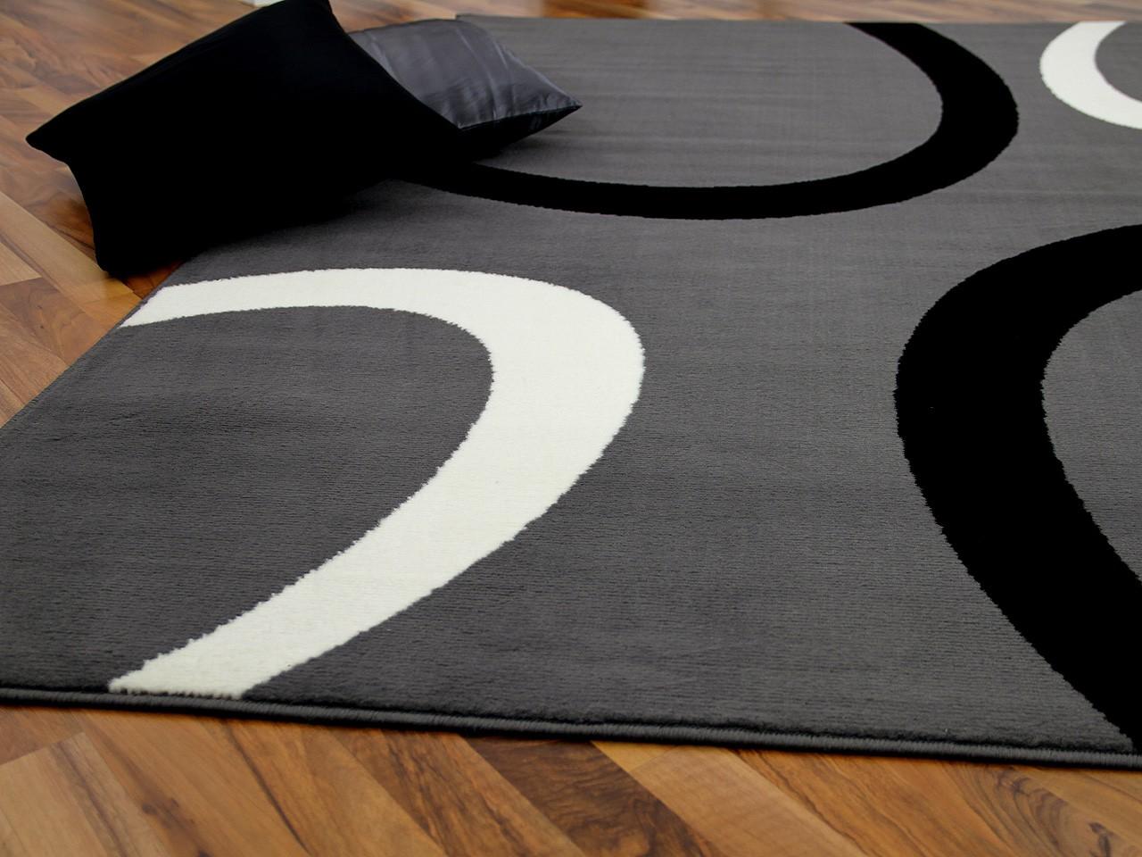 Teppich Trendline Grau Kreise in 4 Größen Teppiche