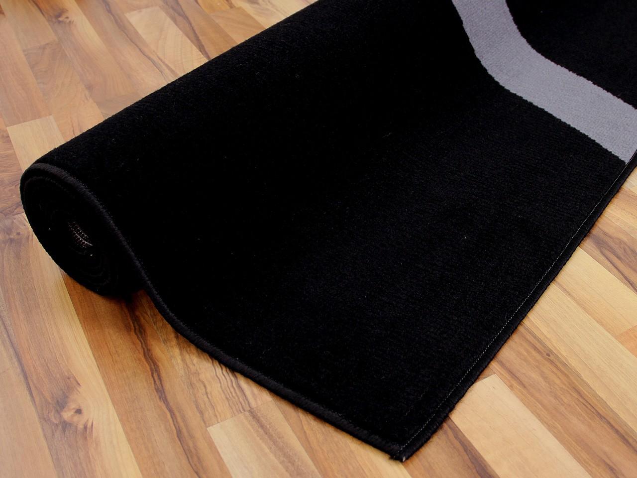 Teppich Trendline Schwarz Kreise in 4 Größen Teppiche