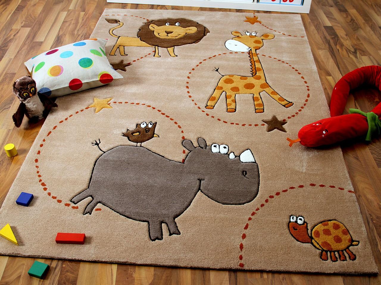 Lifestyle Kinderteppich Beige Zoo !!! Sofort Lieferbar