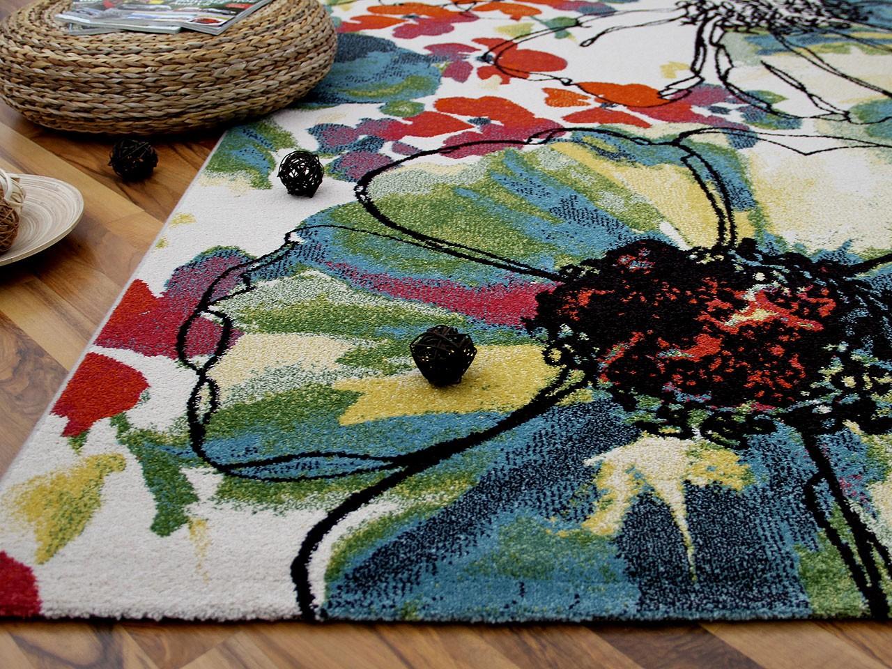 designer teppich arizona blumen bunt abverkauf teppiche designerteppiche arizona teppiche. Black Bedroom Furniture Sets. Home Design Ideas