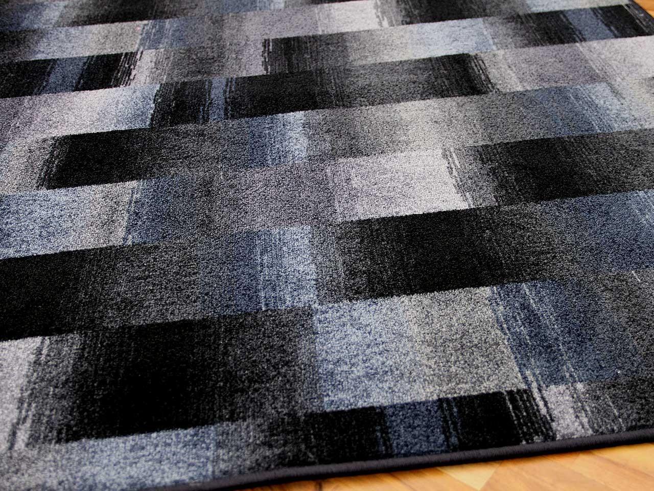 designer velour teppich mystic karo blau grau teppiche designerteppiche mystic teppiche. Black Bedroom Furniture Sets. Home Design Ideas