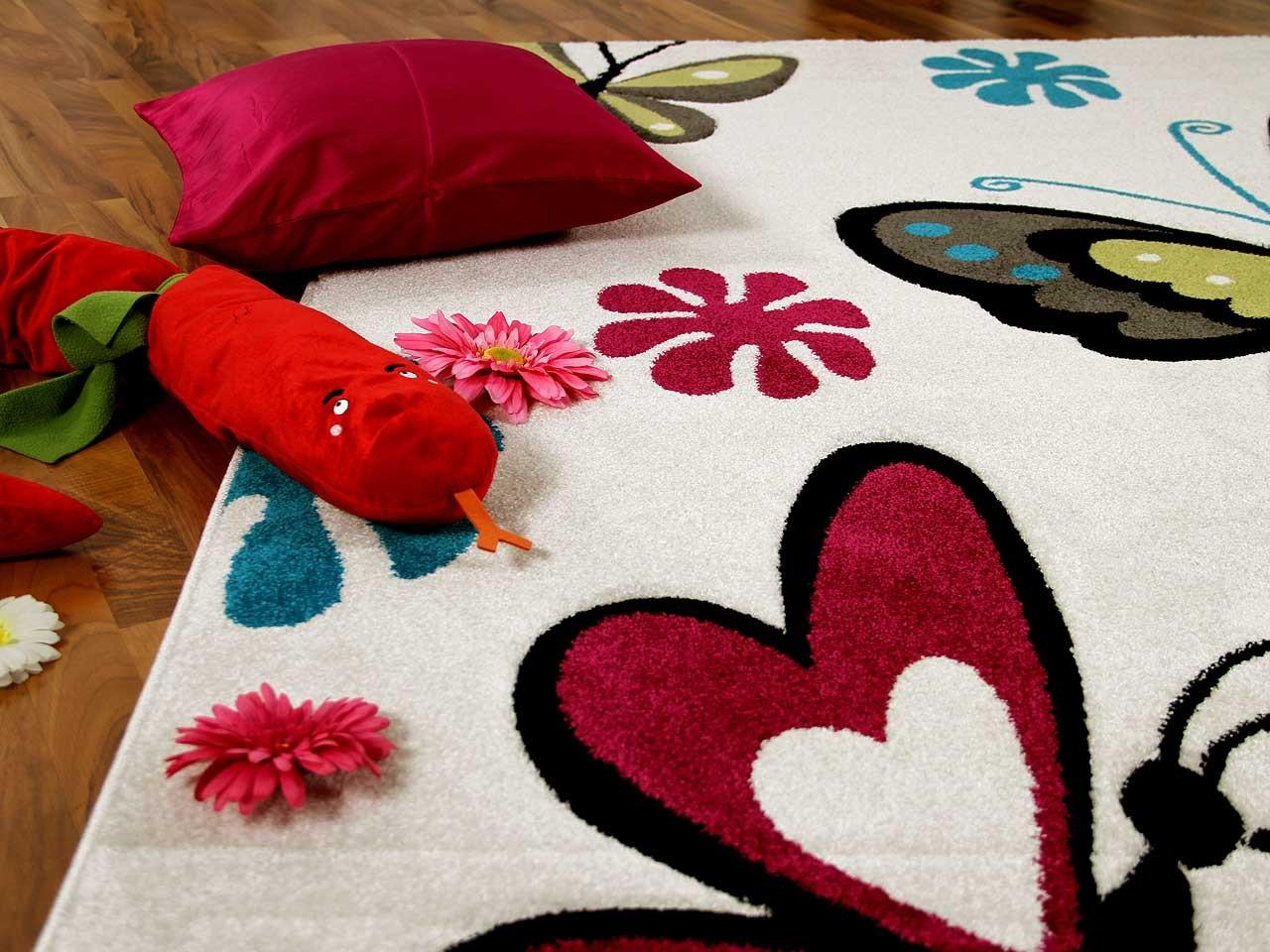 teppich fantasy kids butterfly creme in 3 gr en teppiche kinder und spielteppiche fantasy kids. Black Bedroom Furniture Sets. Home Design Ideas