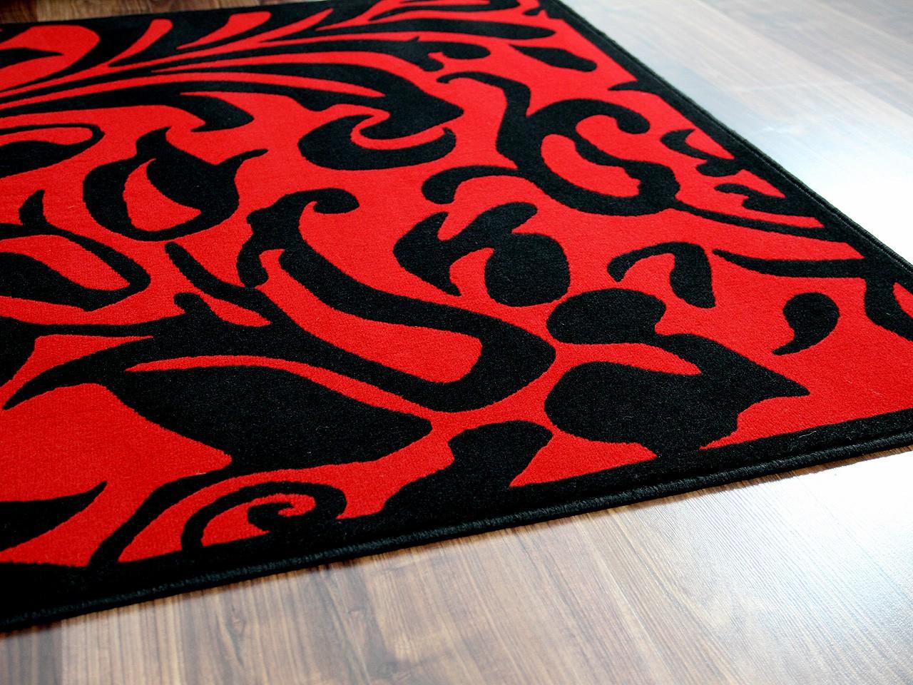 Designer Teppich Passion Schwarz Rot Barock Teppiche Designerteppiche ...