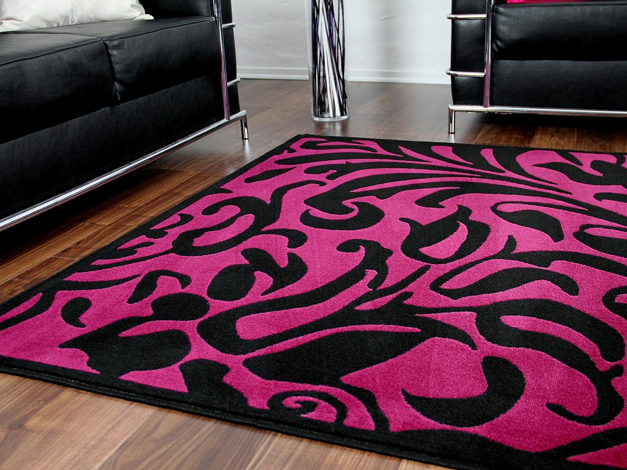 designer teppich passion schwarz lila barock teppiche designerteppiche passion teppiche. Black Bedroom Furniture Sets. Home Design Ideas