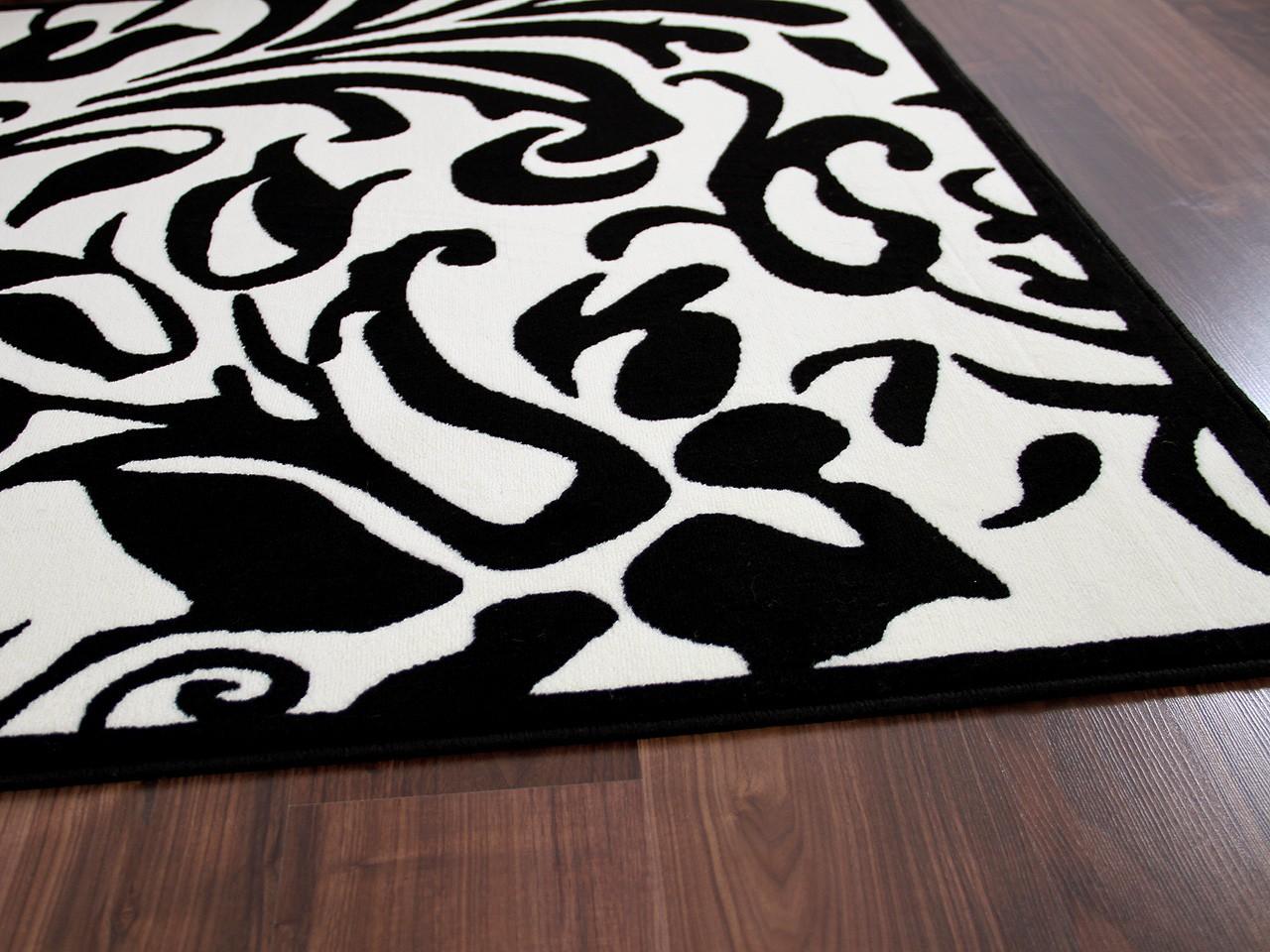 Designer teppich passion schwarz creme barock teppiche ...