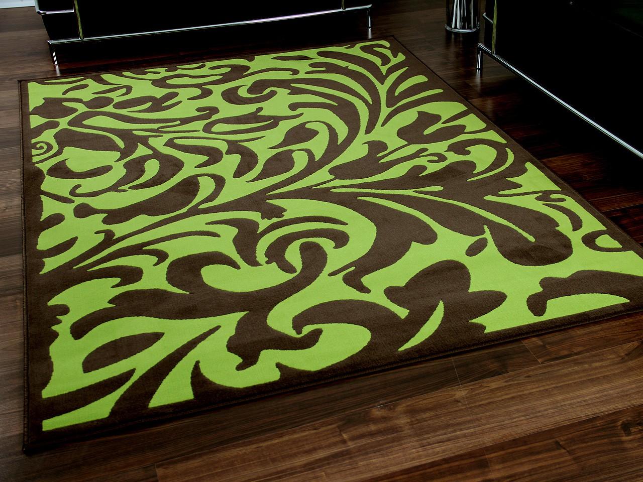 designer teppich passion braun gr n barock teppiche designerteppiche passion teppiche. Black Bedroom Furniture Sets. Home Design Ideas