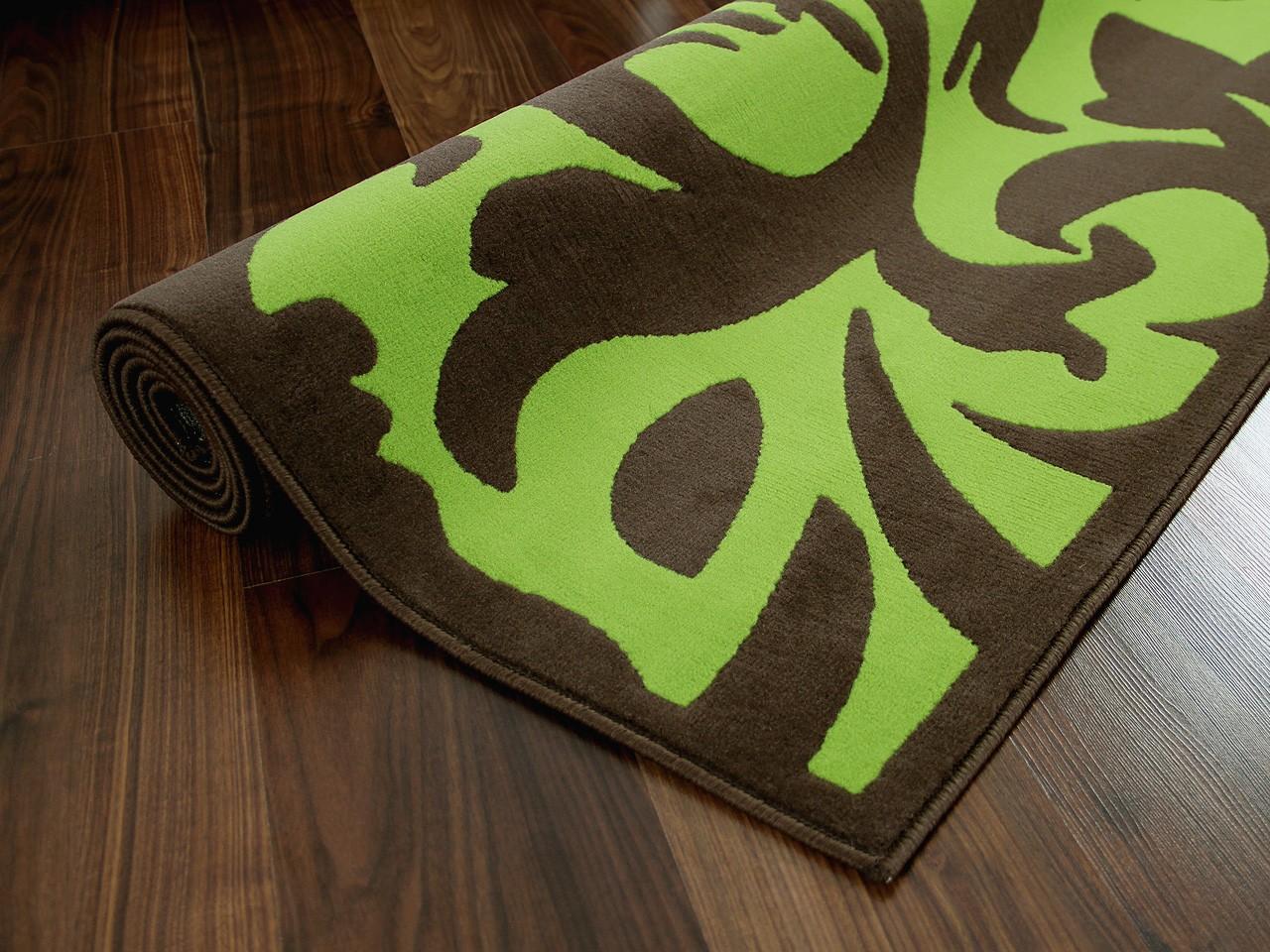 Designer teppich passion braun grün barock teppiche ...
