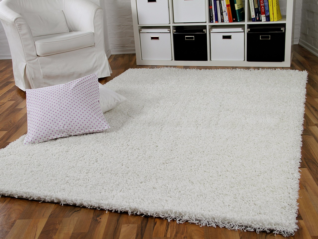 hochflor langflor shaggy teppich aloha wei teppiche. Black Bedroom Furniture Sets. Home Design Ideas