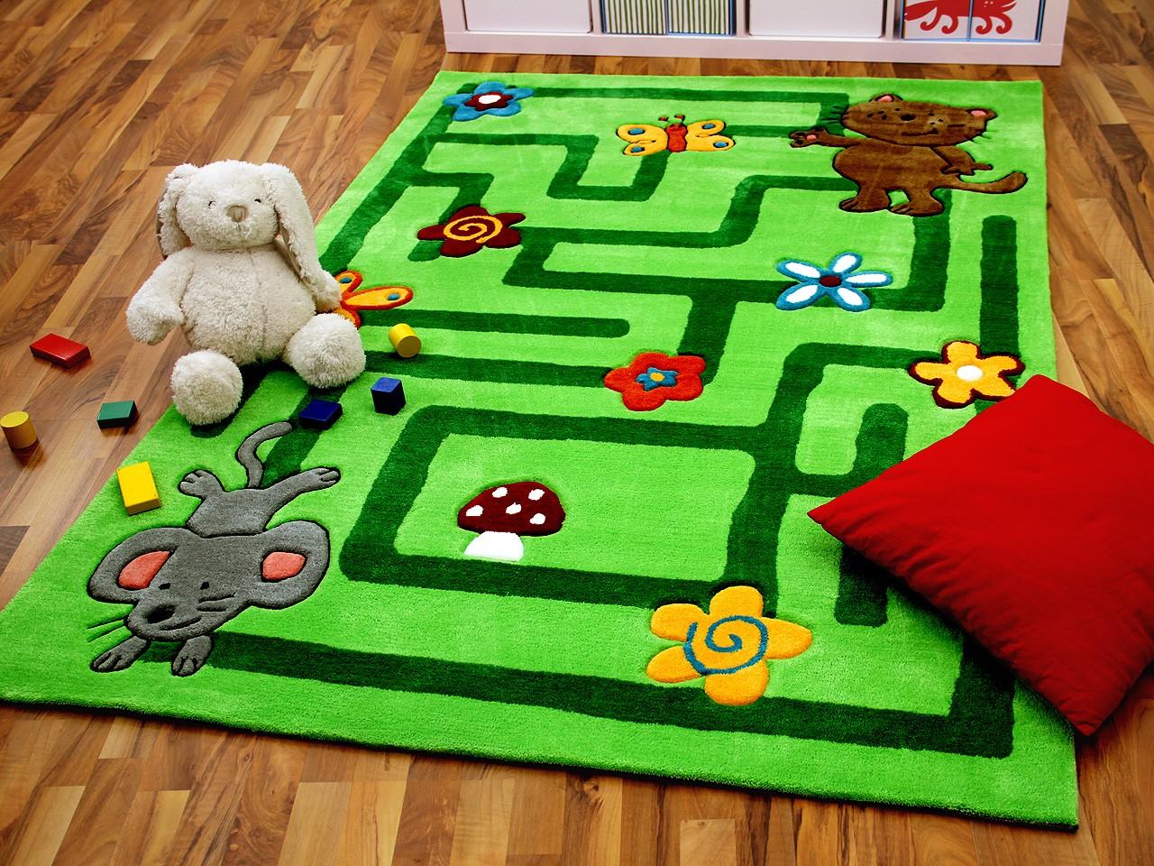 lifestyle kinderteppich labyrinth grün !!! sofort lieferbar
