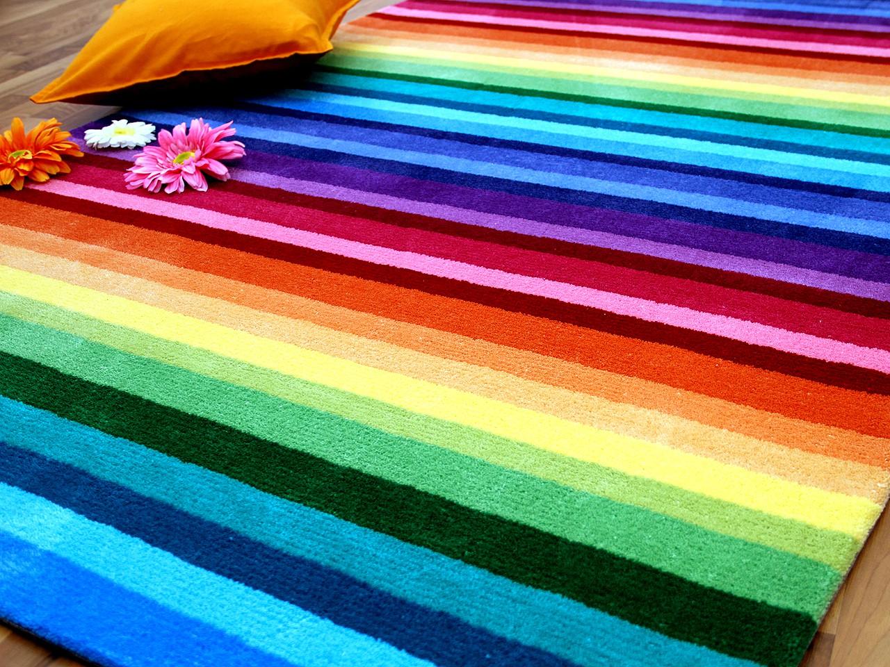 lifestyle kinderteppich rainbow bunt sofort lieferbar. Black Bedroom Furniture Sets. Home Design Ideas
