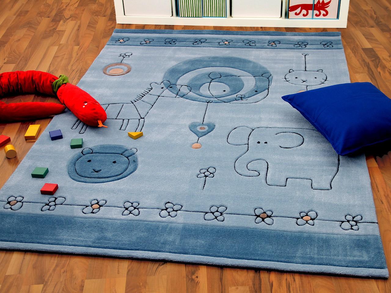 Lifestyle Kinderteppich Babywelt Blau Teppiche Kinder- und ...