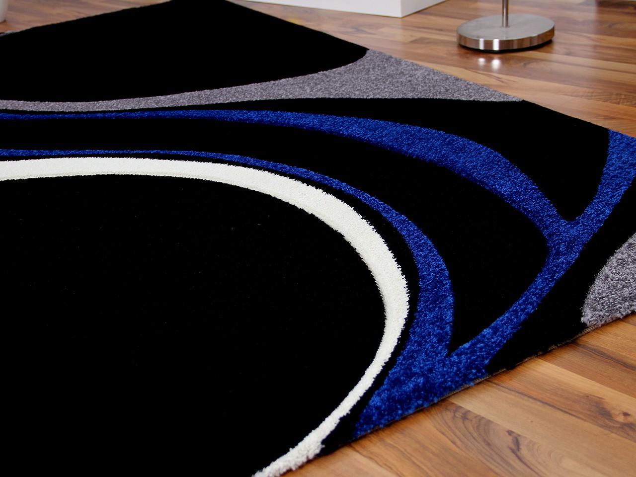 designer teppich maui schwarz blau style teppiche. Black Bedroom Furniture Sets. Home Design Ideas