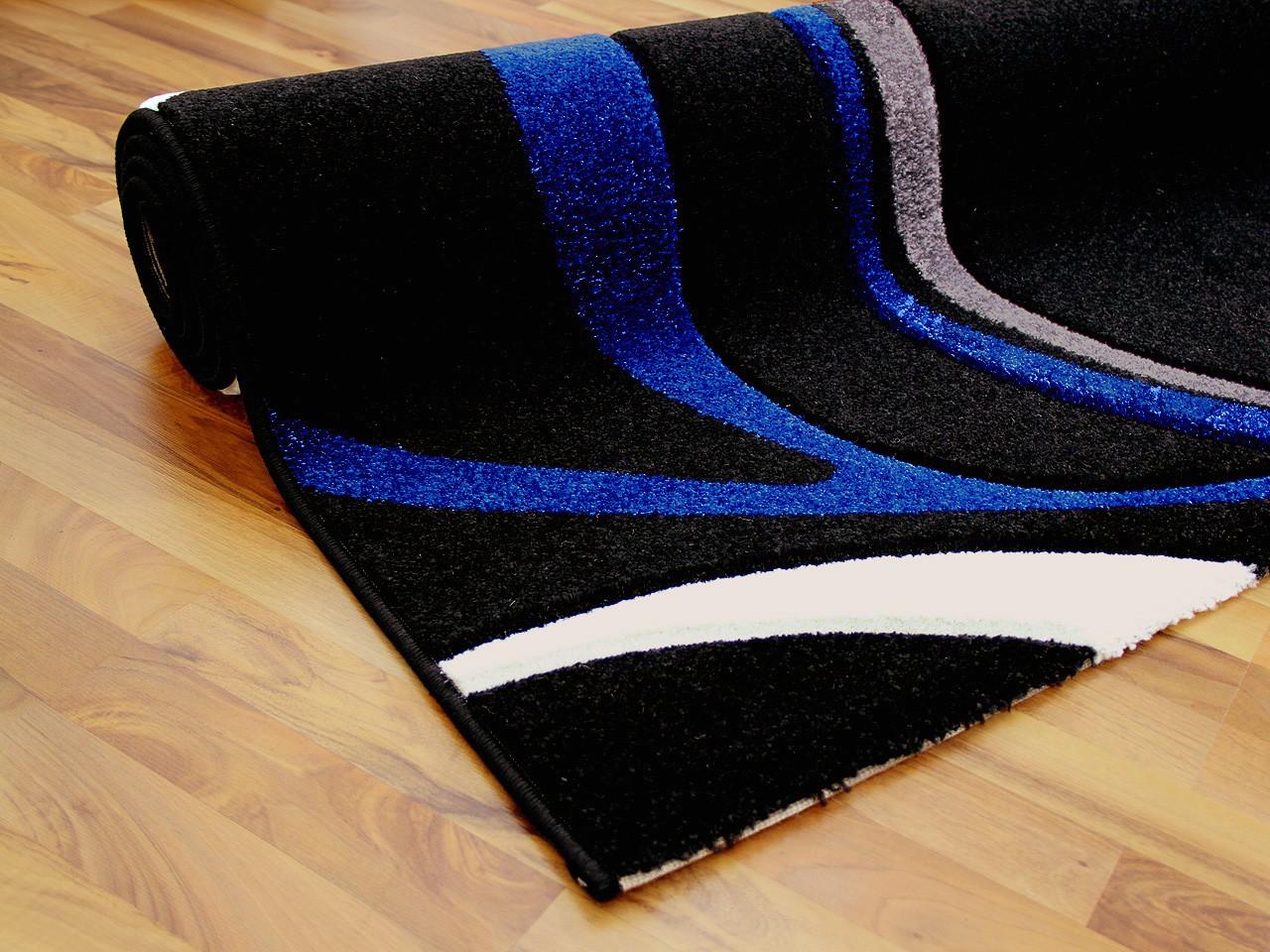 designer teppich maui schwarz blau style teppiche designerteppiche maui teppiche. Black Bedroom Furniture Sets. Home Design Ideas