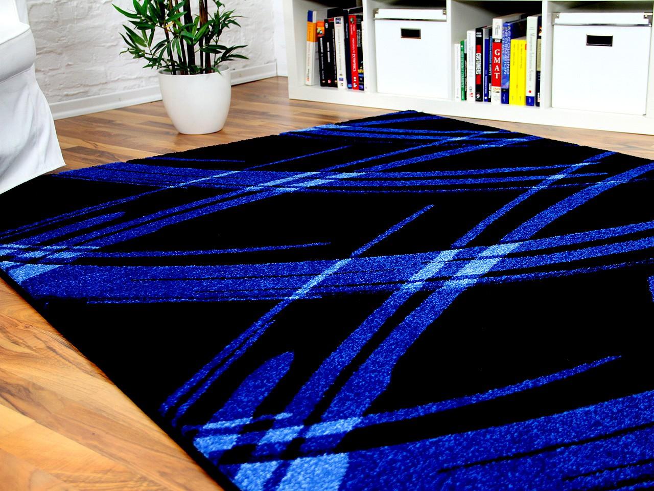 designer teppich maui schwarz blau life in 5 gr en. Black Bedroom Furniture Sets. Home Design Ideas