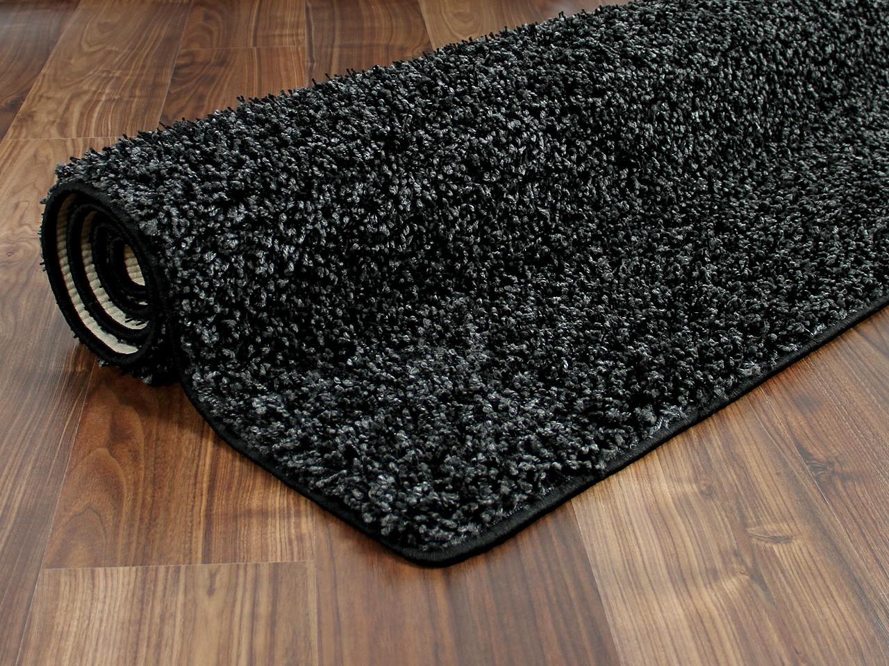 hochflor shaggy teppich dream anthrazit in 24 gr en teppiche hochflor langflor teppiche schwarz. Black Bedroom Furniture Sets. Home Design Ideas