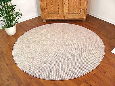 teppich bentzon flachgewebe sand rund in 7 gr en teppiche sisal und naturteppiche bentzon. Black Bedroom Furniture Sets. Home Design Ideas