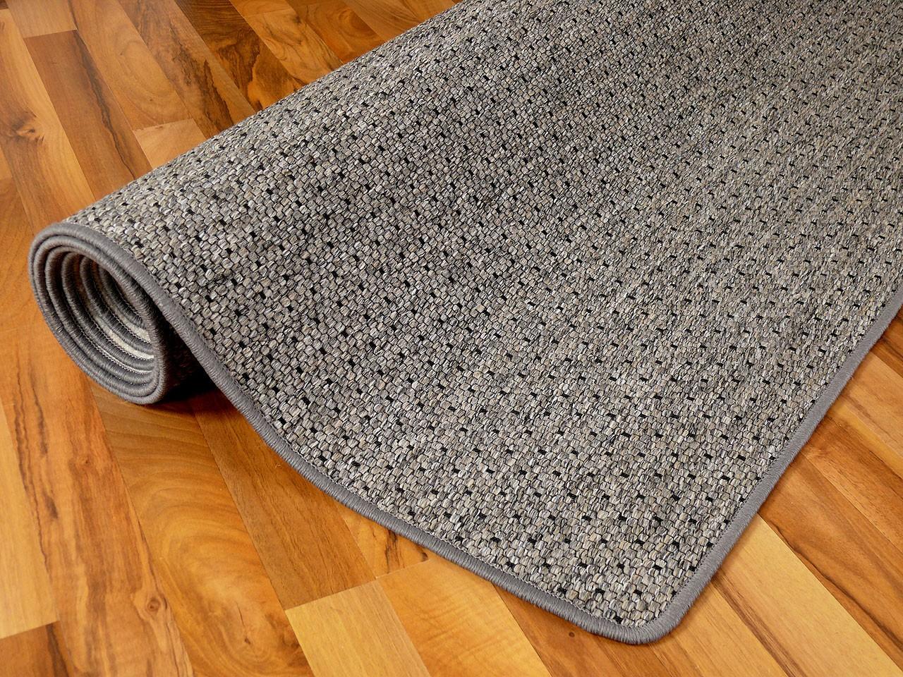 teppich bentzon flachgewebe grau blau schwarz trend abverkauf teppiche sisal und naturteppiche. Black Bedroom Furniture Sets. Home Design Ideas