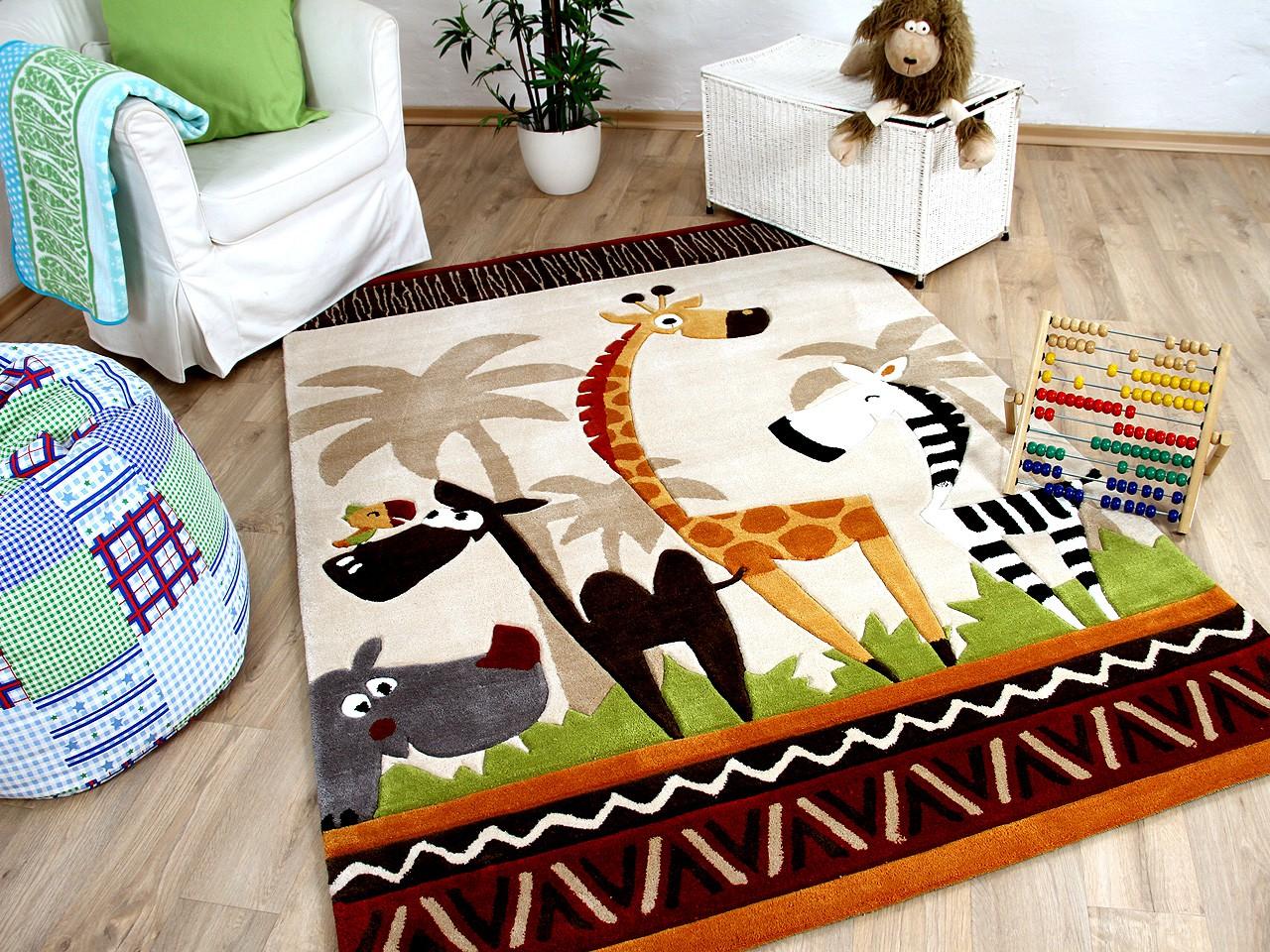 lifestyle kinderteppich beige safari sofort lieferbar teppiche kinder und spielteppiche. Black Bedroom Furniture Sets. Home Design Ideas