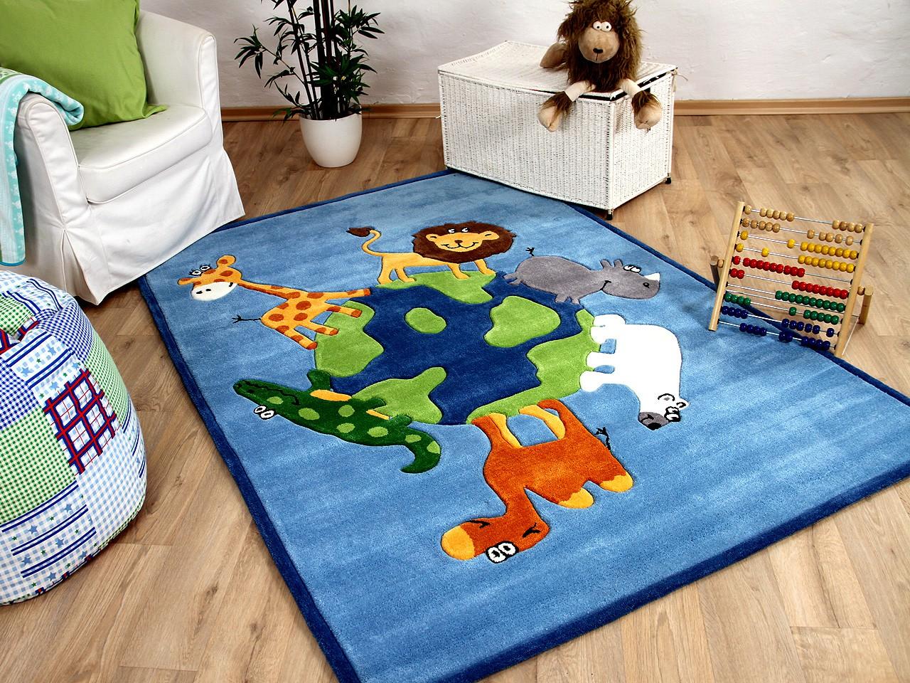Lifestyle Kinderteppich Blau Tierwelt !!! Sofort Lieferbar ...